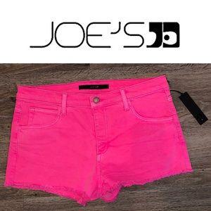 JOE'S JEANS - HOT PINK SHORTS - SIZE 32